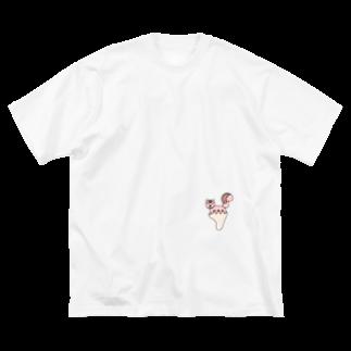 あしゆびふれんずのあしゆびりす Big silhouette T-shirts