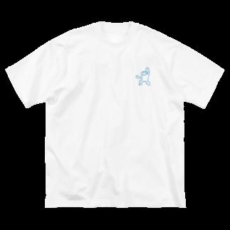 7kのあけぼのくんよいしょポーズ Big silhouette T-shirts