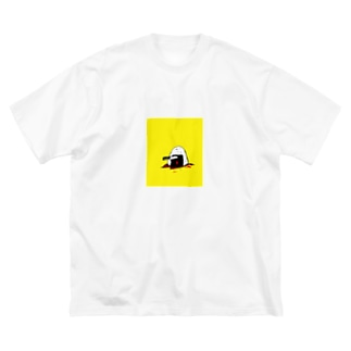 ONIGIRI NO NAKAMI HA UME Big silhouette T-shirts