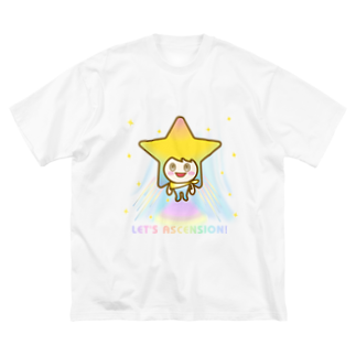 alpacca-creativeのステラちゃん☆【アセンション】 Big silhouette T-shirts