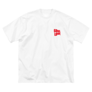 music bar SOUL LOVEのSOUL LOVE ロゴ forth Big silhouette T-shirts
