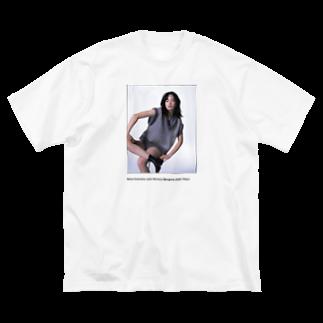 もち吉のksg Big silhouette T-shirts