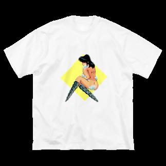 ヨコサカ タツヤ グッズショップのドリル Big silhouette T-shirts