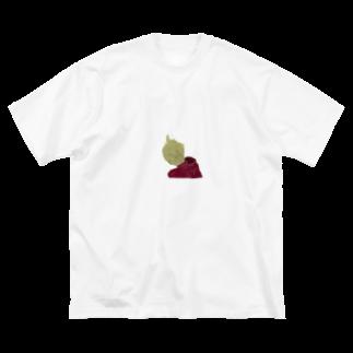 だいずのおみせの後ろパーカー Big silhouette T-shirts