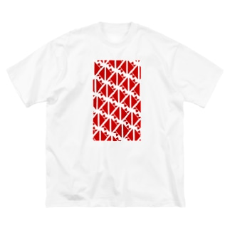 サーヴィエ行進曲 紅 Big silhouette T-shirts