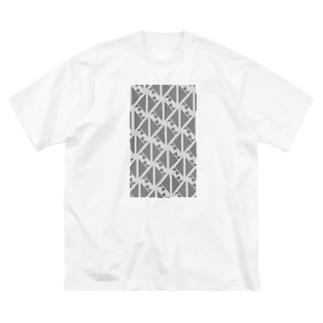サーヴィエ行進曲 燻銀 Big silhouette T-shirts
