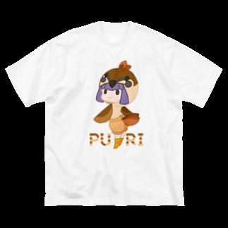 ウサネコのぷり☆スズメちゃん Big silhouette T-shirts