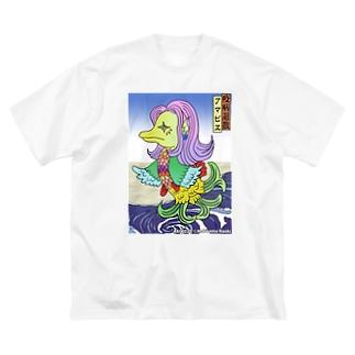 あまびえアートチャレンジ@牧山直樹 Big silhouette T-shirts
