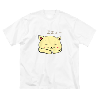 ぺけ丸の寝ぬっこ Big silhouette T-shirts