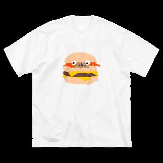 まにちゅうわ🍔のまにちゅうわ君 Big silhouette T-shirts