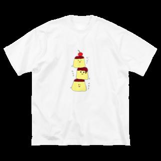 ekubostoreのトリオ・ザ・プリン 「ゼッタイウマクイク!」 Big silhouette T-shirts