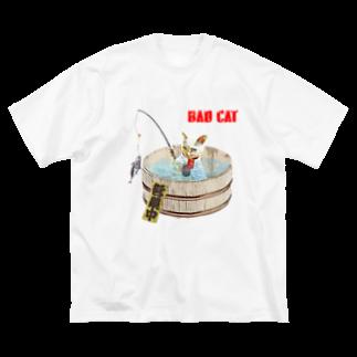 Rock catのBAD CAT 釣り Big silhouette T-shirts