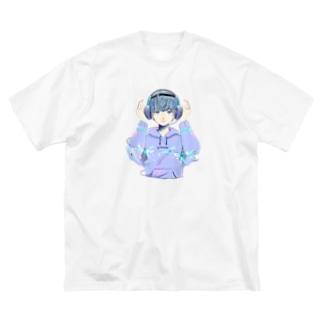 右脳くんビッグTシャツ Big silhouette T-shirts
