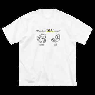 MAROMAROの'ハ'とは何ぞや。What dose 'HA' mean? Big silhouette T-shirts