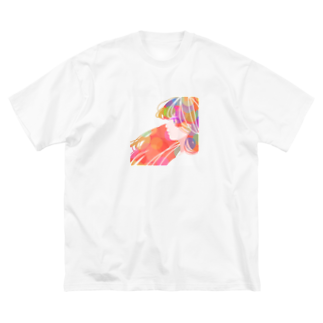 KINJI'sショップの透明GIRL Big silhouette T-shirts