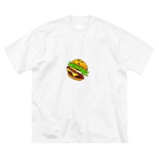ハンバーガー・マイケル Big silhouette T-shirts