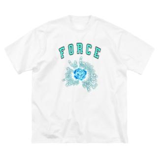 Blue rose Big silhouette T-shirts