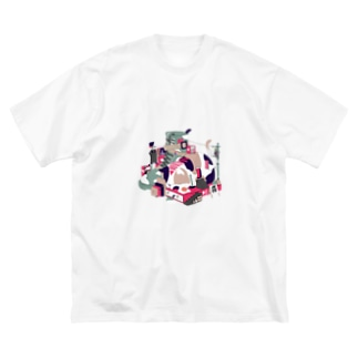 スリープモード Big silhouette T-shirts