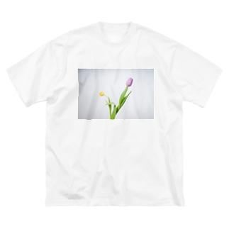 チューリップ フォトT Big silhouette T-shirts