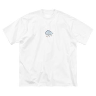 雨模様 Big silhouette T-shirts