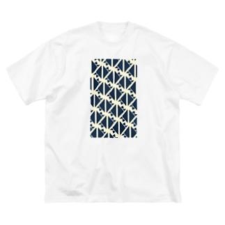 サーヴィエ行進曲 藍 Big silhouette T-shirts