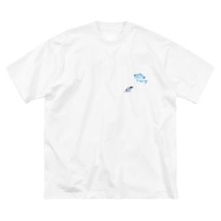 ナガサキスズメダイの幼魚 Big silhouette T-shirts