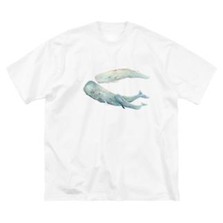 マッコウクジラ Big silhouette T-shirts