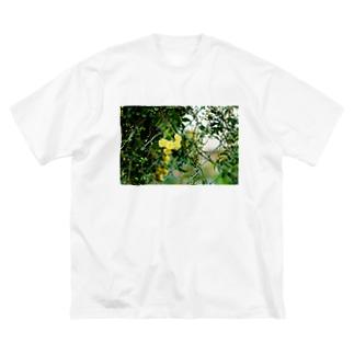 FLOWER-きいろ- Big silhouette T-shirts