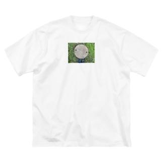 国境のマンホール Big silhouette T-shirts