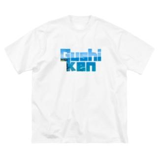具志堅Tシャツ(万座毛) Big silhouette T-shirts