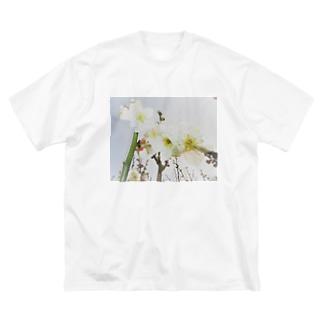 TOKIMEKIFLOWER白梅花 Big silhouette T-shirts