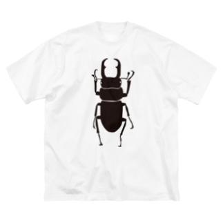 コクワくん Big silhouette T-shirts