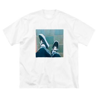 エモい足下0425 Big silhouette T-shirts