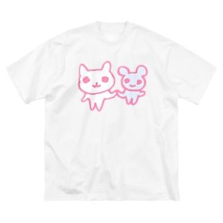 てをとりあっていきる Big silhouette T-shirts