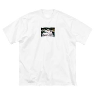 鮮魚叩き売り Big silhouette T-shirts