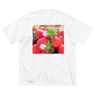 花びらいちごC Big silhouette T-shirts