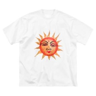 タイヨウサン Big silhouette T-shirts