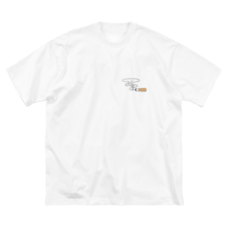 Cigarette Big silhouette T-shirts