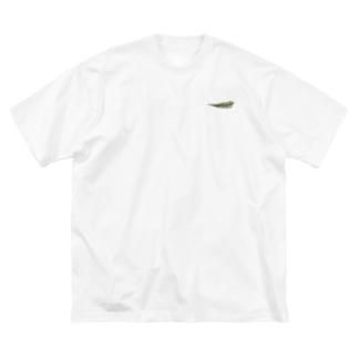 シダ植物 Big silhouette T-shirts