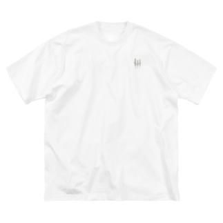 ぺんぺん草 Big silhouette T-shirts