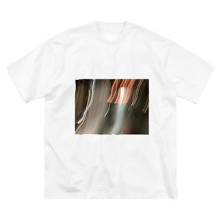 火の露光 Big silhouette T-shirts