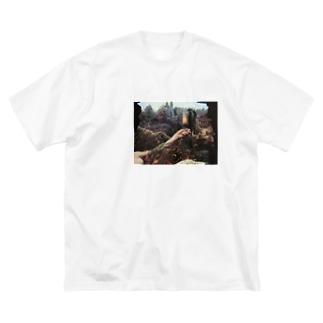 Marcel duchamp 遺作 Big silhouette T-shirts