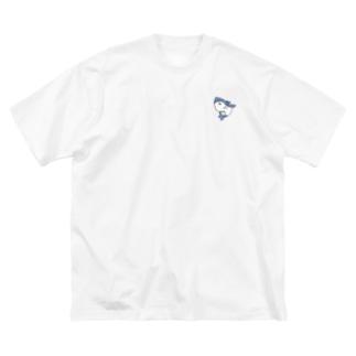 無気力水族館 サメ Big silhouette T-shirts