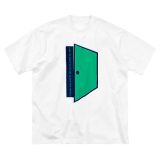 """""""扉は閉じてもまた別の扉が開く"""" Big silhouette T-shirts"""