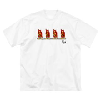 鬼っ子。 Big silhouette T-shirts