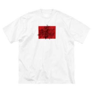 花 1 Big silhouette T-shirts