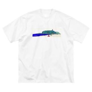 江ノ島 Big silhouette T-shirts