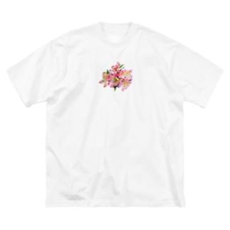 花 3 Big silhouette T-shirts