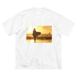 サーフ系 Big silhouette T-shirts