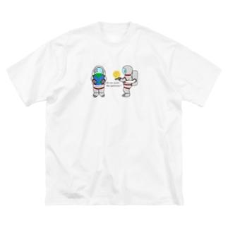 ぱんちゃりんちゃの宇宙がほしいわけじゃない Big silhouette T-shirts